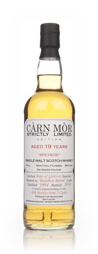 Braes Of Glenlivet 19 Year Old 1994 - Strictly Limited (Càrn Mòr)