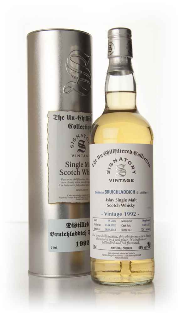 Bruichladdich 19 Year Old 1992 - Un-Chillfiltered (Signatory)