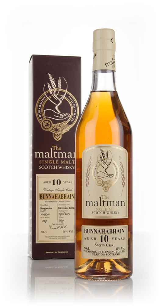 Bunnahabhain 10 Year Old 2002 (cask 1003710) (The Maltman)