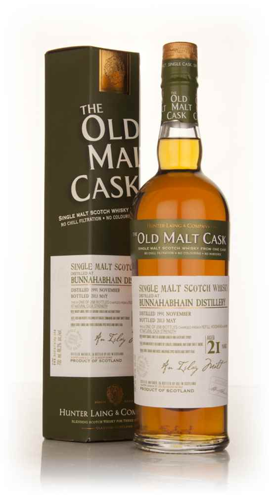Bunnahabhain 21 Year Old 1991 (cask 9819) - Old Malt Cask (Hunter Laing)