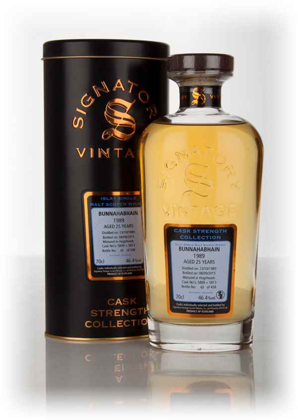 Bunnahabhain 25 Year Old 1989 (casks 5809 & 5813) - Cask Strength Collection (Signatory)
