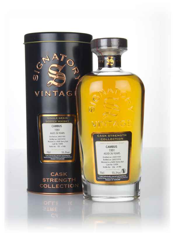 Cambus 26 Year Old 1991 (cask 55894) - Cask Strength Collection (Signatory)