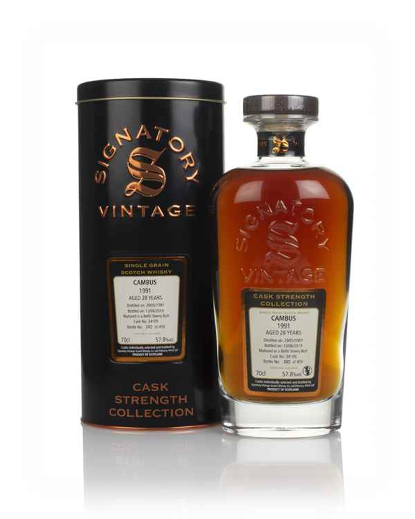 Cambus 28 Year Old 1991 (cask 34109) - Cask Strength Collection (Signatory)