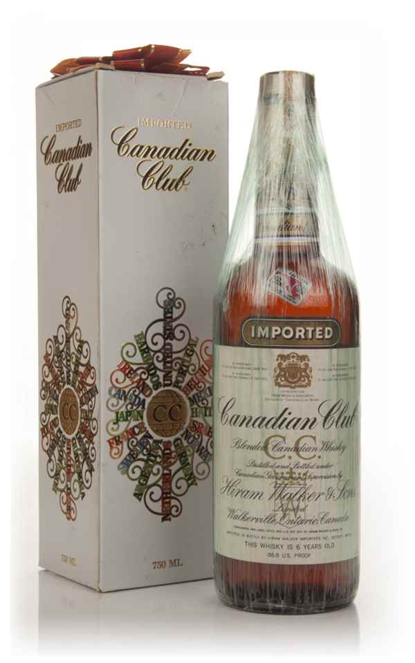 Canadian Club 6 Year Old Whisky - 1974 (Christmas Packaging)