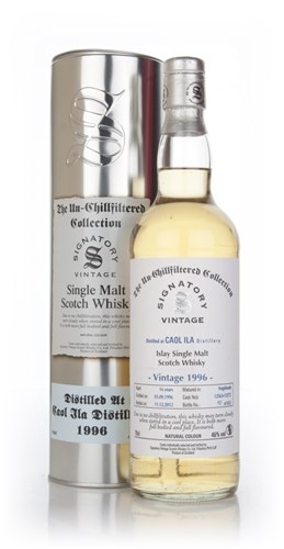 Caol Ila 16 Year Old 1996 (casks 12567+12575) - Un-Chillfiltered Collection (Signatory)