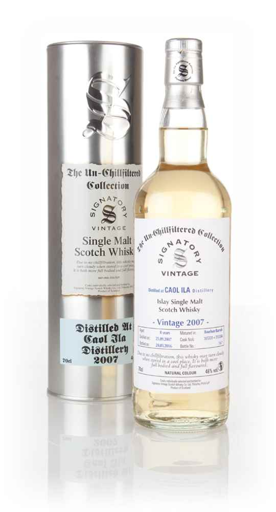 Caol Ila 8 Year Old 2007 (casks 315331 & 315334) - Un-Chillfiltered (Signatory)