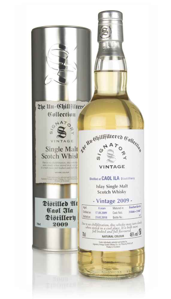 Caol Ila 8 Year Old 2009 (casks 314666 & 314667) - Un-Chillfiltered Collection (Signatory)