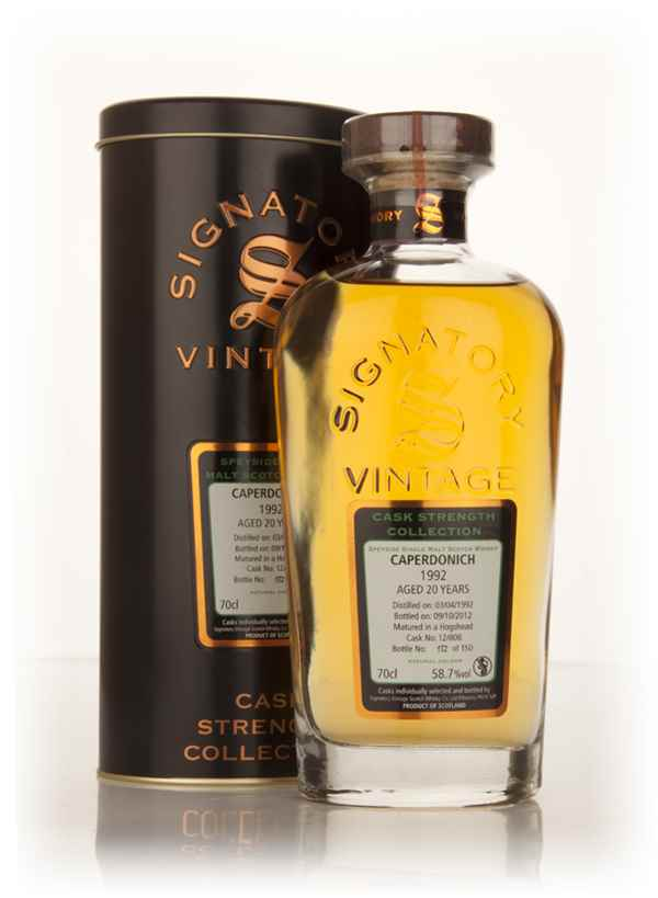 Caperdonich 20 Year Old 1992 (cask 12/808) - Cask Strength Collection (Signatory)
