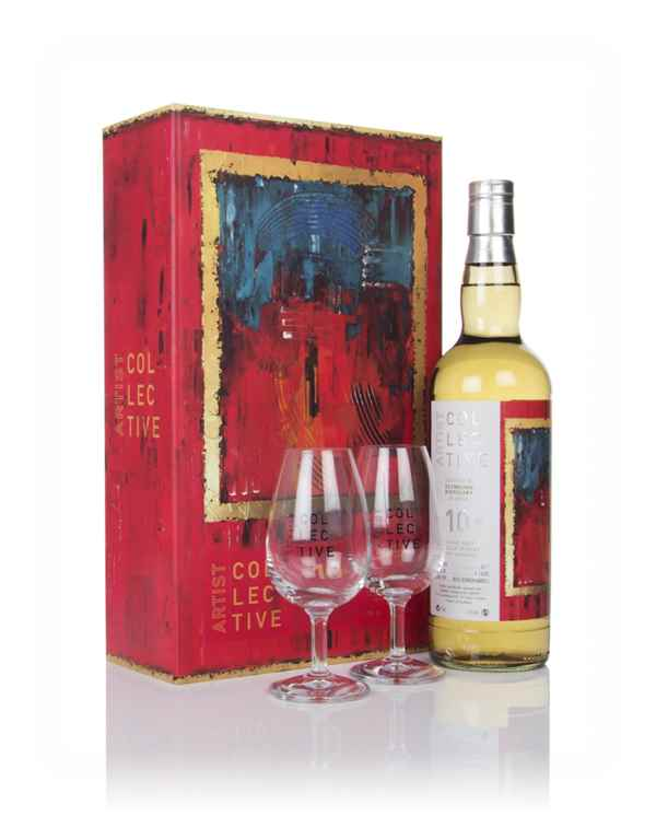 Clynelish 10 Year Old 2008 - Artist Collective Gift Pack with 2x Glasses (La Maison du Whisky)