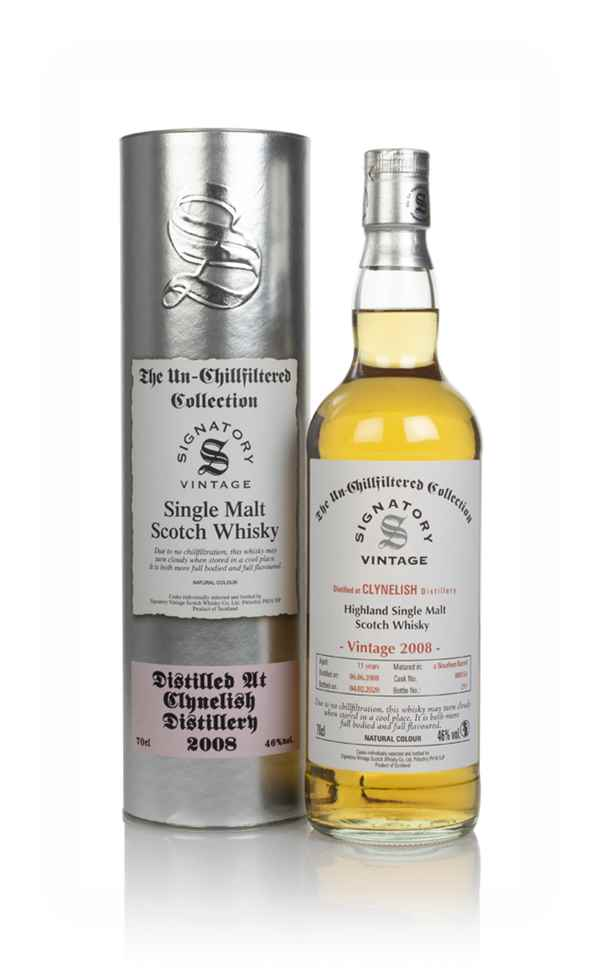 Clynelish 11 Year Old 2008 (cask 800154) - Un-Chillfiltered Collection (Signatory)