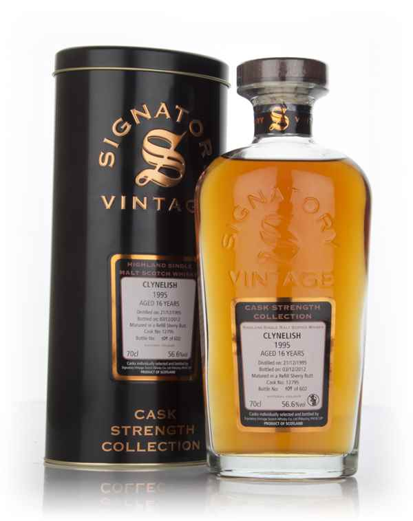 Clynelish 16 Year Old 1995 (cask 12795) - Cask Strength Collection (Signatory)