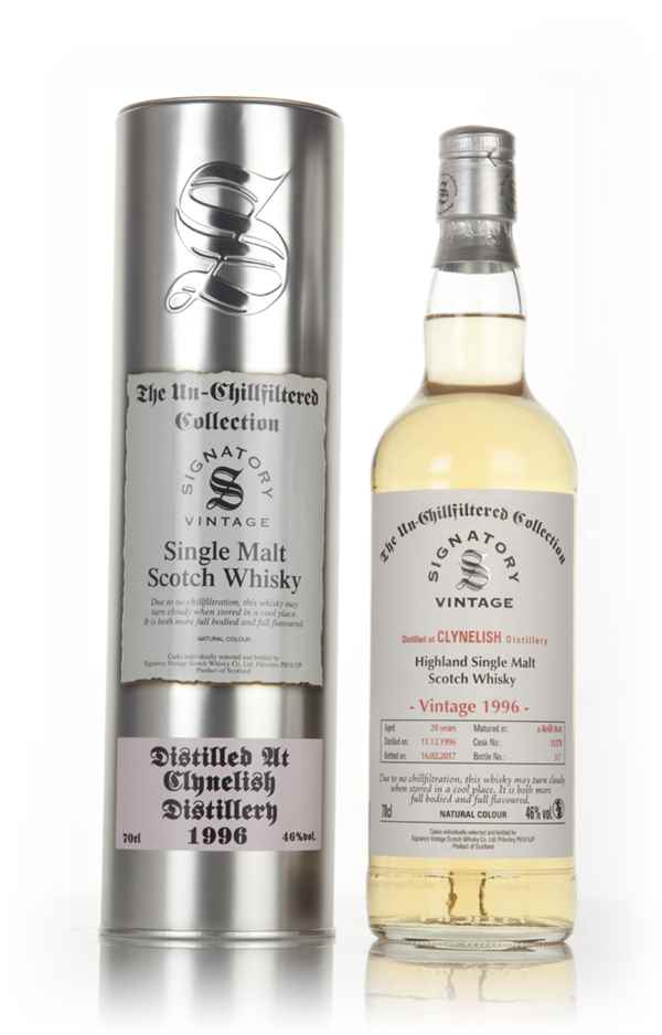 Clynelish 20 Year Old 1996 (casks 11378) - Un-Chillfiltered Collection (Signatory)
