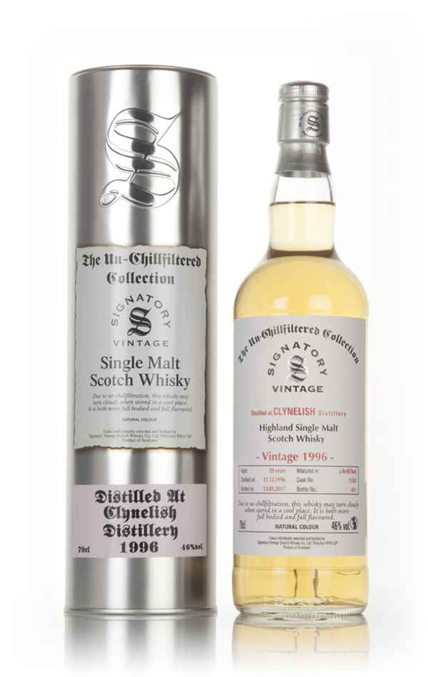 Clynelish 20 Year Old 1996 (casks 11381) - Un-Chillfiltered Collection (Signatory)