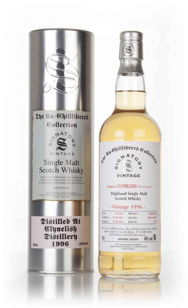 Clynelish 20 Year Old 1996 (casks 6408 & 6409) - Un-Chillfiltered Collection (Signatory)
