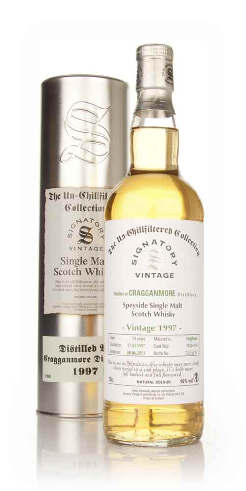 Cragganmore 14 Year Old 1997 - Un-Chillfiltered (Signatory)