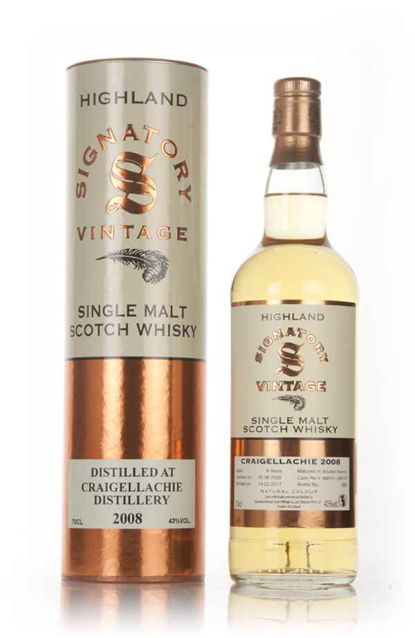 Craigellachie 8 Year Old 2008 (cask 800124 & 800125) - Signatory