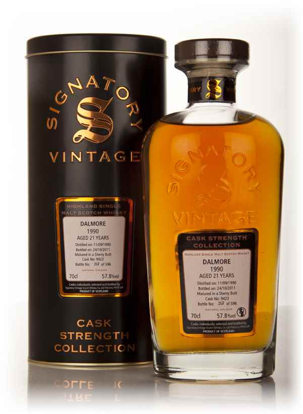Dalmore 21 Year Old 1990 - Cask Strength Collection (Signatory)