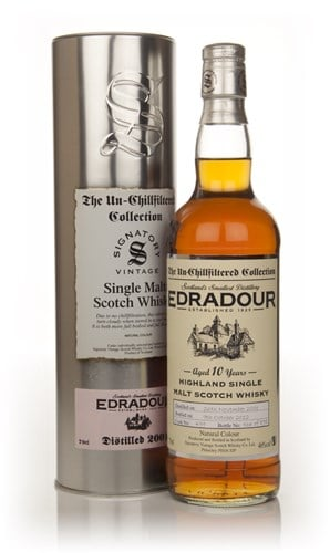 Edradour 10 Year Old 2001 (cask 499) - Un-Chillfilterred (Signatory)
