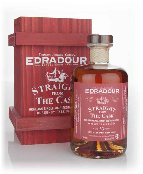 Edradour 10 Year Old 2002 Burgundy Cask Finish - Straight from the Cask 57.3%