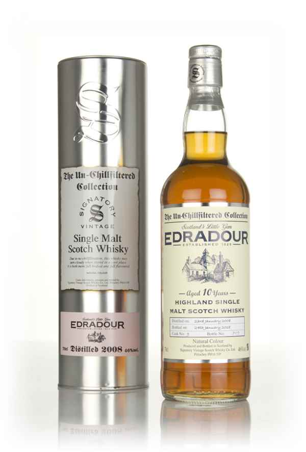 Edradour 10 Year Old 2008 (cask 9) - Un-Chillfiltered Collection (Signatory)