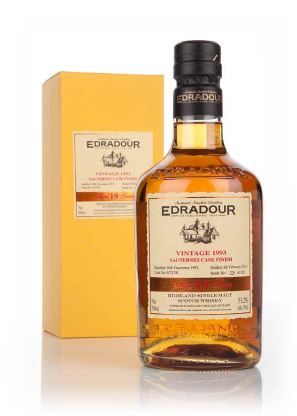 Edradour 19 Year Old 1993 (cask 8/737/8) Sauternes Cask Finish
