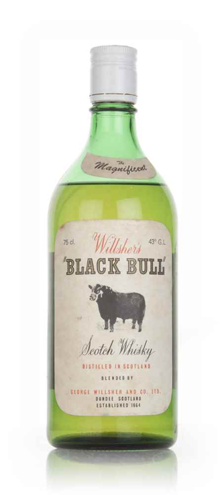 Willsher's Black Bull 43% - late 1960s