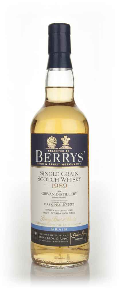 Girvan 22 Year Old 1989 (cask 37533) (Berry Bros. & Rudd)