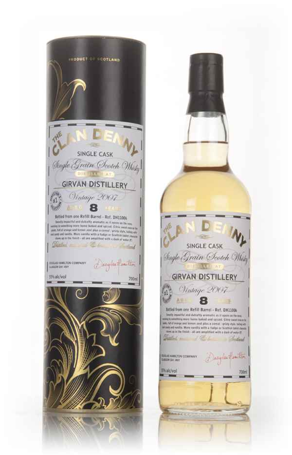 Girvan 8 Year Old 2007 (cask 11006) - The Clan Denny (Douglas Laing)