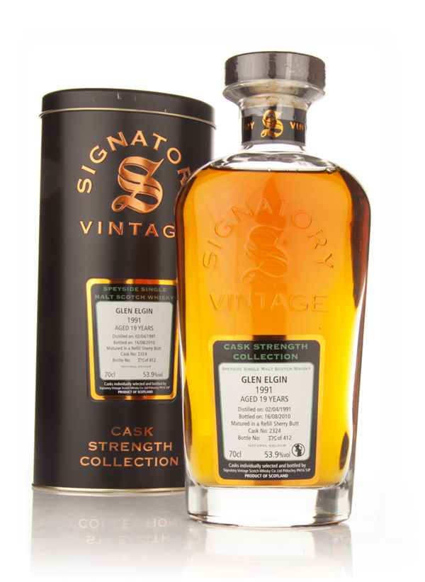 Glen Elgin 19 Year Old 1991 Cask 2324 - Cask Strength Collection (Signatory)