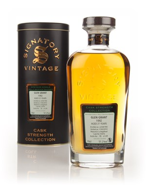 Glen Grant 21 Year Old 1992 (cask 55416) - Cask Strength Collection (Signatory)