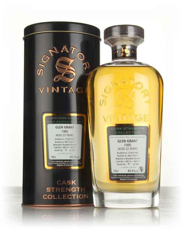 Glen Grant 21 Year Old 1995 (casks 88216 & 88217) - Cask Strength Collection (Signatory)