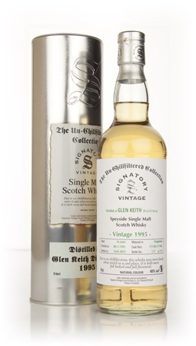 Glen Keith 16 Year Old 1995 (cask 171185) - Un-Chillfiltered (Signatory)