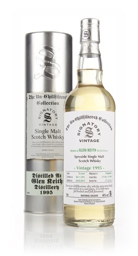 Glen Keith 18 Year Old 1995 (casks 171196+171199) - Un-Chillfiltered (Signatory)