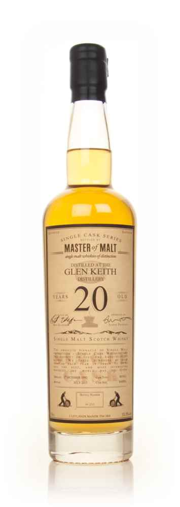 Glen Keith 20 Year Old 1992 - Single Cask (Master of Malt)