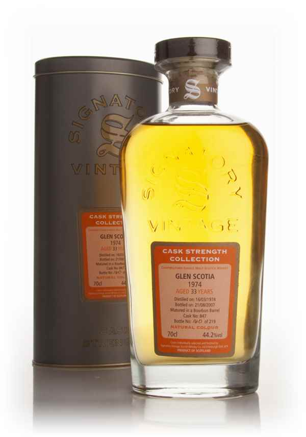 Glen Scotia 33 Year Old 1974 - Cask Strength Collection (Signatory)