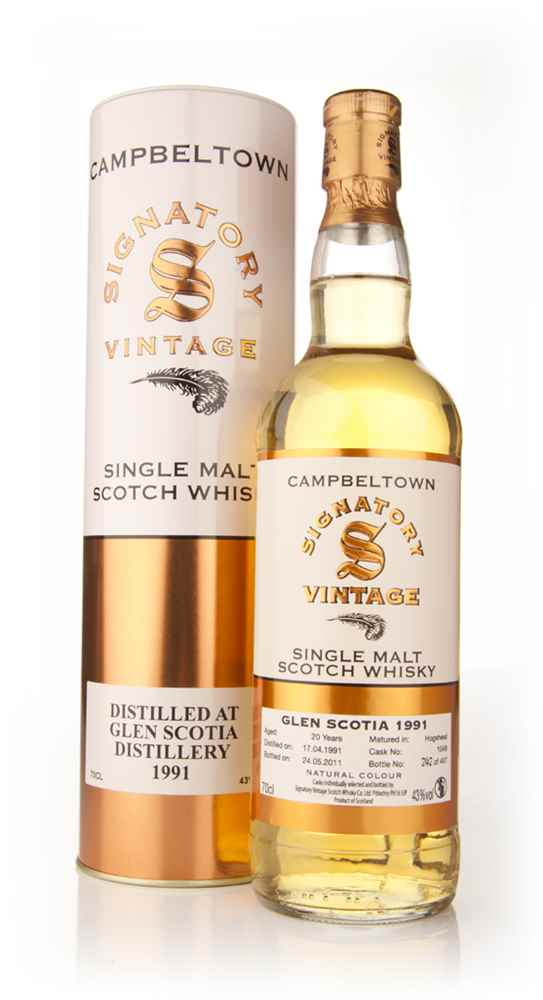 Glen Scotia 20 Year Old 1991 (Signatory)
