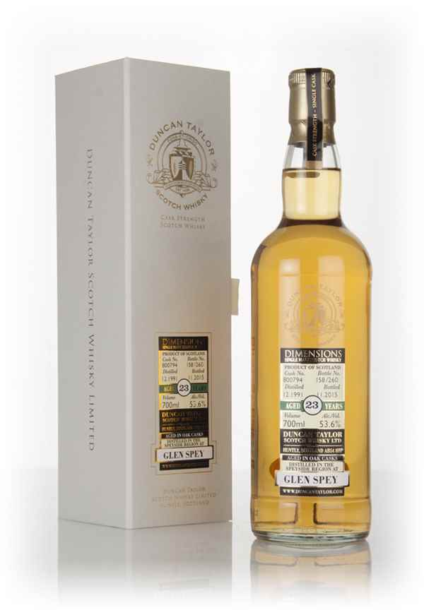 Glen Spey 23 Year Old 1991 (cask 800794) - Dimensions (Duncan Taylor)