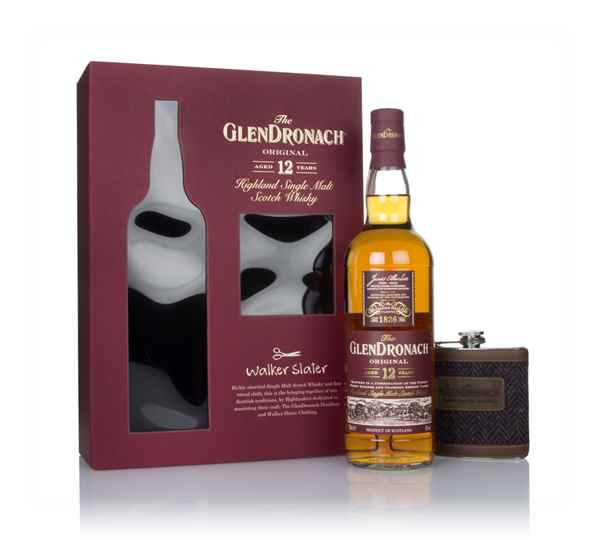 The GlenDronach 12 Year Old Gift Pack with Walker Slater Hip Flask