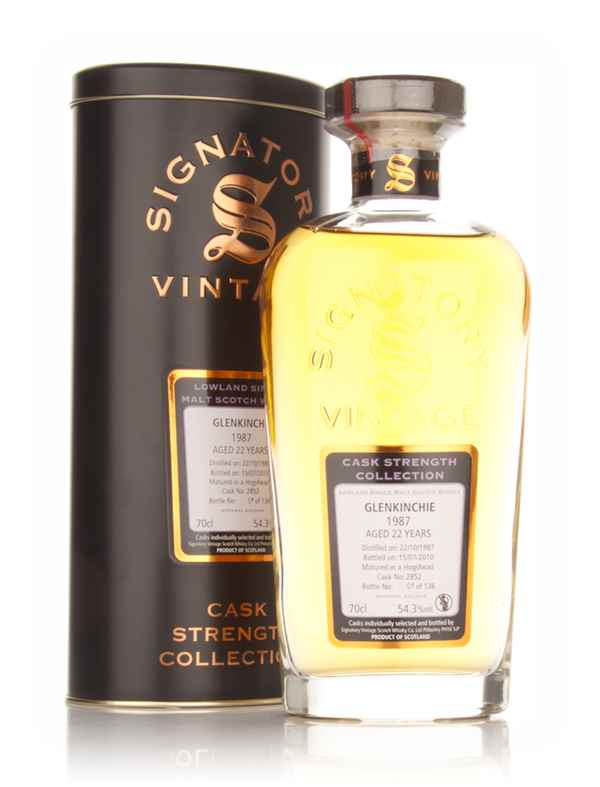 Glenkinchie 22 Year Old 1987 - Cask Strength Collection (Signatory)