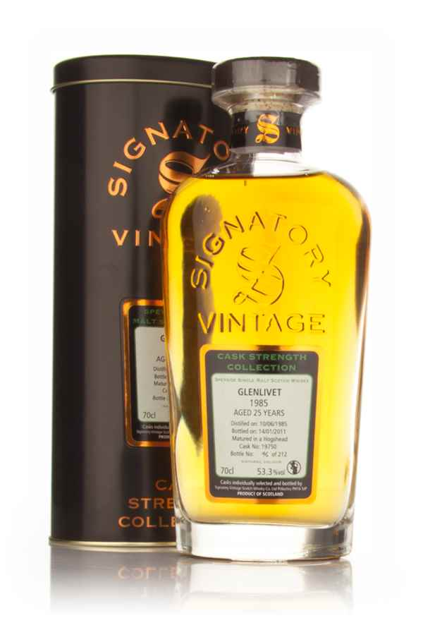 Glenlivet 25 Year Old 1985 - Cask Strength Collection (Signatory)