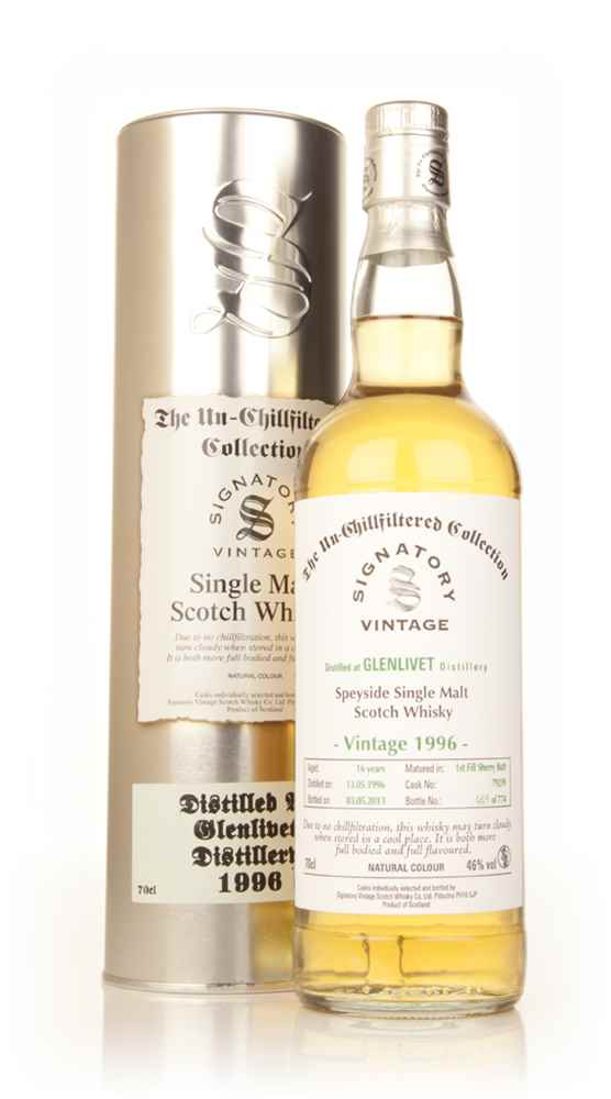Glenlivet 16 Year Old 1996 (cask 79239) - Un-Chillfiltered Collection (Signatory)