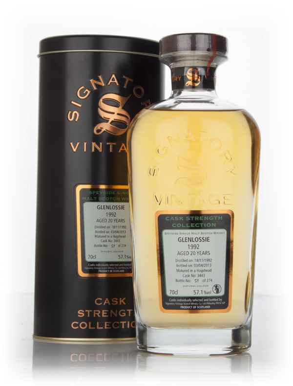 Glenlossie 20 Year Old 1992 (cask 3443) - Cask Strength Collection (Signatory)