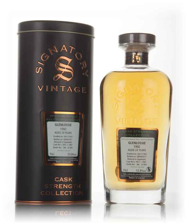 Glenlossie 24 Year Old 1992 (cask 3451 & 3461) - Cask Strength Collection (Signatory)