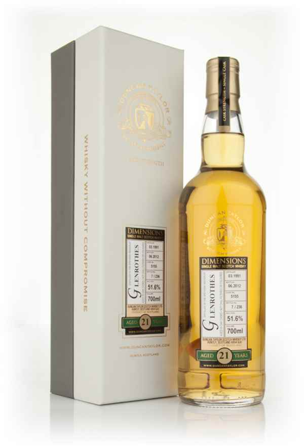 Glenrothes 21 Year Old 1991 - Dimensions (Duncan Taylor)