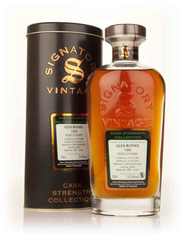 Glenrothes 23 Year Old 1989 (cask 24382) - Cask Strength Collection (Signatory)