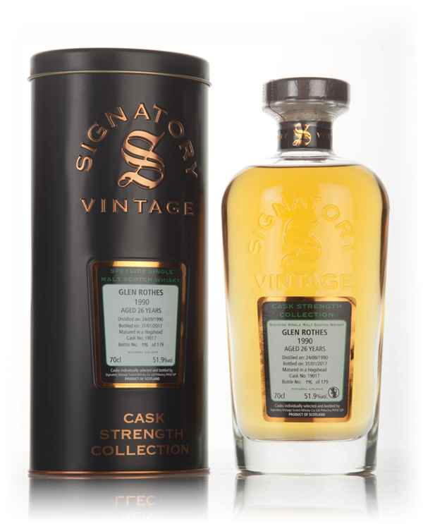 Glenrothes 26 Year Old 1990 (cask 19017) - Cask Strength Collection (Signatory)