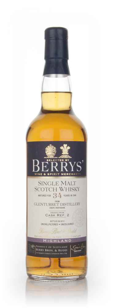 Glenturret 34 Year Old 1977 (cask ref. #2) (Berry Bros. & Rudd)