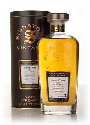 Highland Park 21 Year Old 1990 Cask 15694 - Cask Strength Collection (Signatory)