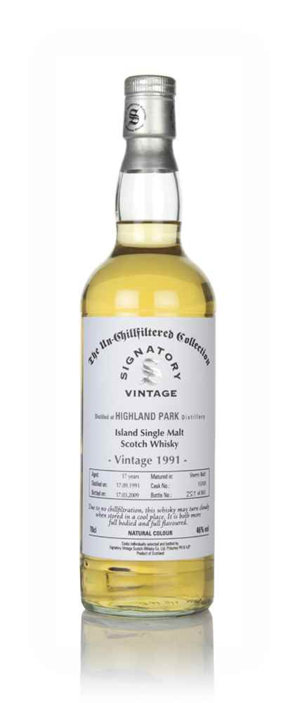 Highland Park 17 Year Old 1991 (cask 15103) - Un-Chillfiltered Collection (Signatory)