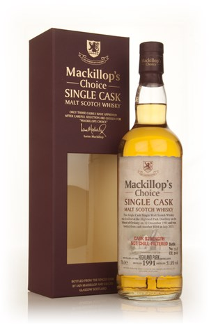 Highland Park 21 Year Old 1991 (cask 8094) - Mackillop's Choice